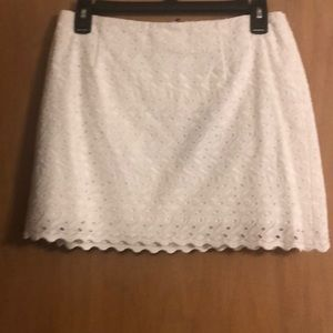 NWT Lilly Pulitzer White Eyelet Skirt Double Lined